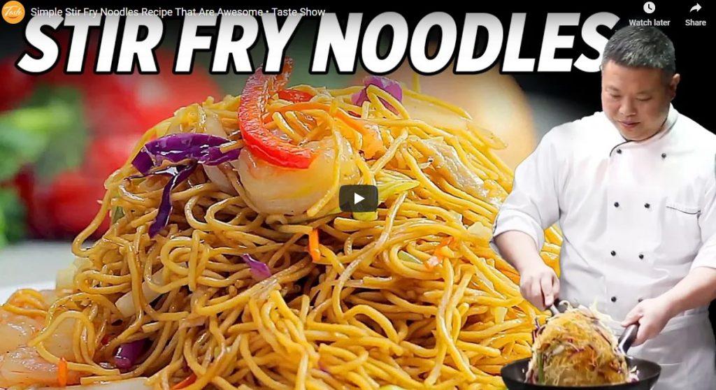 Simple Stir Fry Noodles Recipe